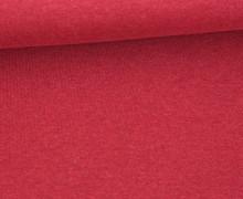Organic Cotton Interlock Baumwolljersey - Uni - 145cm - Dunkelrot Meliert