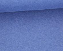 Organic Cotton Interlock Baumwolljersey - Uni - 145cm - Jeansblau Meliert