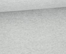Organic Cotton Interlock Baumwolljersey - Uni - 145cm - Hellgrau Meliert