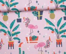 Sommersweat - Bio Qualität - Merry Kitschmas - Weihnachten - rosa - abby and me