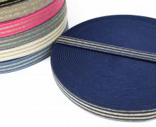 1m Gummiband - elastisch - Glitzer -Streifen - 20mm - Dunkelblau