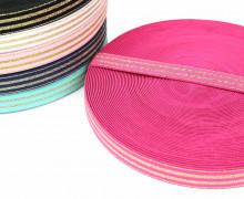 1m Gummiband - elastisch - Glitzer -Streifen - 20mm - Pink
