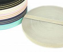1m Gummiband - elastisch - Glitzer -Streifen - 20mm - Sand