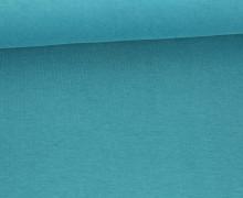 Organic Cotton Interlock Baumwolljersey - Uni - 145cm - Petrol