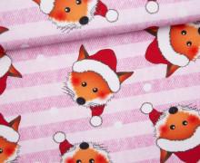 Sommersweat - Bio Qualität - Der kleine Weihnachtsfuchs - Weihnachten - Jeansoptik - Streifen - rosa - abby and me