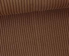 Hipster Bündchen - Rippen - Uni - Schlauchware - Braun