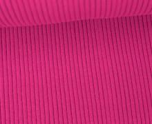 Hipster Bündchen - Rippen - Uni - Schlauchware - Pink