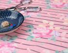 Sommersweat - Boho Flower Stripes - Rosa - Meliert - NIKIKO