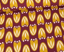 Jersey - Tulpen - Tulip - Retro Flowers - Weinrot Dunkel