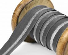 1 Meter Faltgummi - elastisch - glänzend - Faltband - 20mm - Dunkelgrau