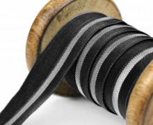 1 Meter Faltgummi - elastisch - glänzend - Faltband - 20mm - Schwarz