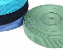 1m Gummiband - elastisch - Wellen - 40mm - Meergrün