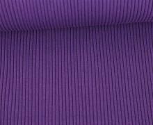 Hipster Bündchen - Rippen - Uni - Schlauchware - Violett