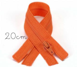 1x20cm Polyesterreißverschluss - Nicht Teilbar - Hochwertig - Opti - Orange (0693)