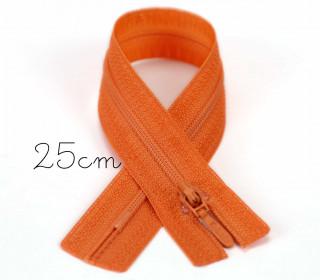 1x25cm Polyesterreißverschluss - Nicht Teilbar - Hochwertig - Opti - Orange (0693)