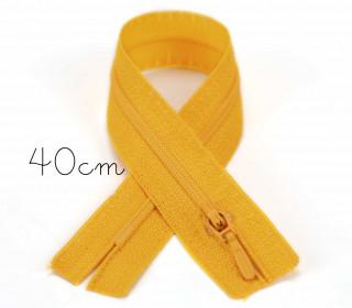 1x40cm Polyesterreißverschluss - Nicht Teilbar - Hochwertig - Opti - Gelb (0645)