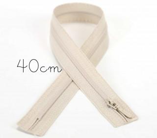 1x40cm Polyesterreißverschluss - Nicht Teilbar - Hochwertig - Opti - Beige (0849)