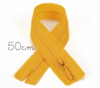 1x50cm Polyesterreißverschluss - Nicht Teilbar - Hochwertig - Opti - Gelb (0645)