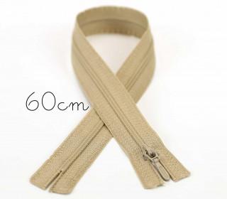 1x60cm Polyesterreißverschluss - Nicht Teilbar - Hochwertig - Opti - Sand (0886)