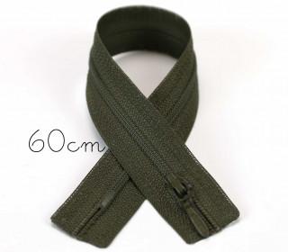 1x60cm Polyesterreißverschluss - Nicht Teilbar - Hochwertig - Opti - Oliv (0542)