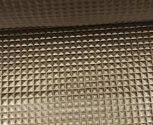 Kunstleder mit Struktur - Merlin - Nieten Optik - 3D - Glänzend - Altmessing