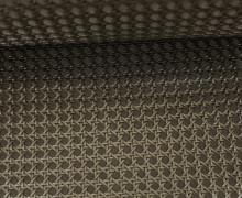 Kunstleder mit Struktur - Gitter Optik - 3D - Altmessing