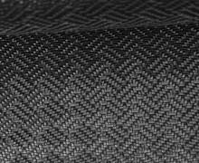 Kunstleder mit Struktur - Gewebte Optik - 3D - Schwarz