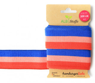 Jacquard-Streifen Band - Stripe me - College - Check Point - XXL - Hamburger Liebe - Orange/Blau