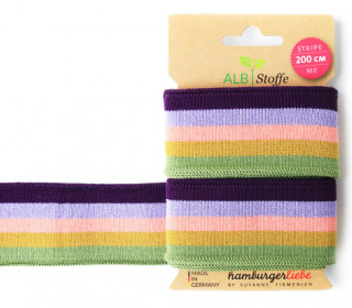 Jacquard-Streifen Band - Stripe me - College - Check Point - XXL - Hamburger Liebe - Lila/Lavendel