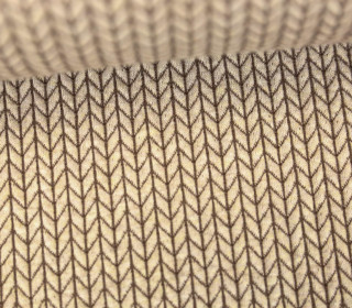 Bio-Jacquard - 3D - Big Knit - Check Point - Hamburger Liebe - Beige