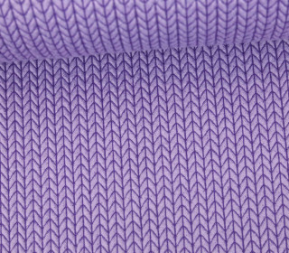 Bio-Jacquard - 3D - Big Knit - Check Point - Hamburger Liebe - Lavendel