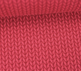 Bio-Jacquard - 3D - Big Knit - Check Point - Hamburger Liebe - Pink