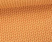 Bio-Jacquard - 3D - Big Knit - Check Point - Hamburger Liebe - Orangegelb