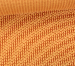 Bio-Jacquard - 3D - Knit Knit - Check Point - Hamburger Liebe - Orangegelb