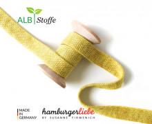 Hoodiekordel - Flachkordel - Cord me - Melange - 20mm - Check Point - XXL - Hamburger Liebe - Senfgelb