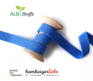 Hoodiekordel - Flachkordel - Cord me - Uni - 20mm - Check Point - XXL - Hamburger Liebe - Blau