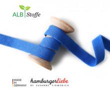 Hoodiekordel - Flachkordel - Cord me - Uni - 12mm - Check Point - Hamburger Liebe - Blau