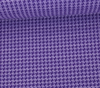 Bio-Jacquard - Tweed Knit - Check Point - Hamburger Liebe - Lavendel