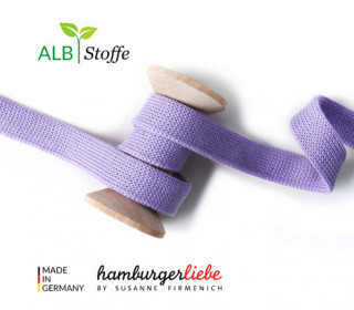 Hoodiekordel - Flachkordel - Cord me - Uni - 12mm - Check Point - Hamburger Liebe - Lavendel