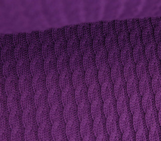 Bio-Strickstoff - Knitty Plait - Check Point - Hamburger Liebe - Violett
