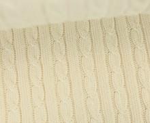 Bio-Strickstoff - Knitty Plait 2 - Check Point - Hamburger Liebe - Wollweiß