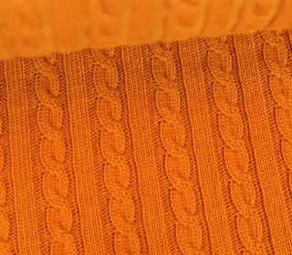 Bio-Strickstoff - Knitty Plait 2 - Check Point - Hamburger Liebe - Orange