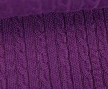 Bio-Strickstoff - Knitty Plait 2 - Check Point - Hamburger Liebe - Violett
