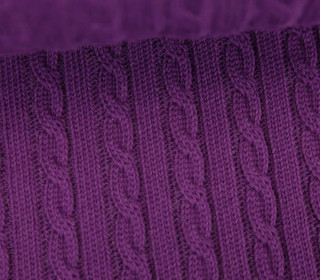 Bio-Strickstoff - Knitty Plait 2 - Check Point - Hamburger Liebe - Violett