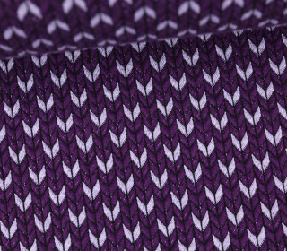 Bio-Jacquard - 3D - Big Knit Stitches - Check Point - Hamburger Liebe - Violett
