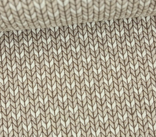 Bio-Jacquard - 3D - Big Knit Stitches - Check Point - Hamburger Liebe - Beige