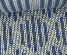 Bio-Jacquard - 3D - Big Knit Check List - Check Point - Hamburger Liebe - Grau/Blau