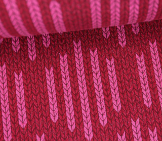 Bio-Jacquard - 3D - Big Knit Check List - Check Point - Hamburger Liebe - Rot/Pink