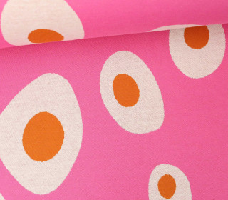 Bio-Jacquard - Sunny Side Up - Check Point - Hamburger Liebe - Pink