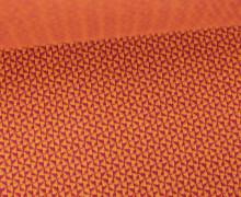 Bio-Jacquard - 3D - Mini Check Knit - Check Point - Hamburger Liebe - Orange